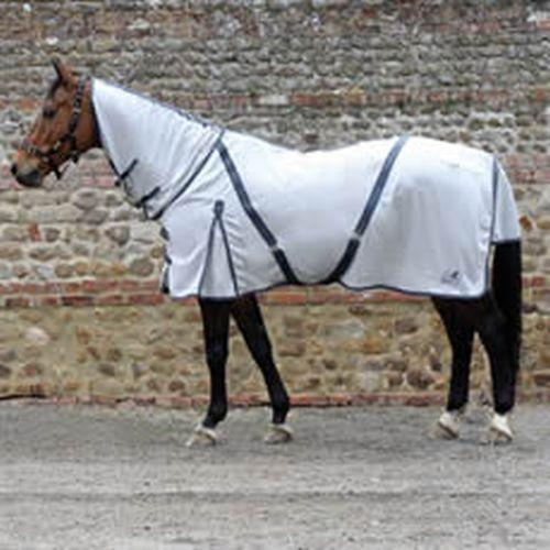 Masta Fly Rug Zing mesh Fixed Neck - Silver
