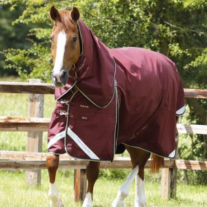 Premier Equine Buster Zero Turn Out Rug Burgundy