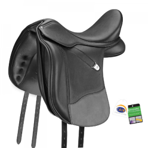 Bates Wide Dressage Saddle Wide Luxe Leather